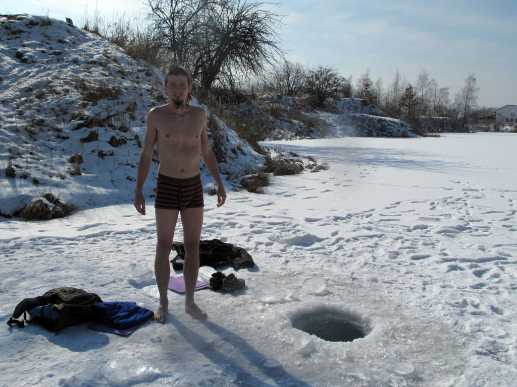 Biohacking Ice Cold Bath Wim Hof Method Jump Into Cold Water